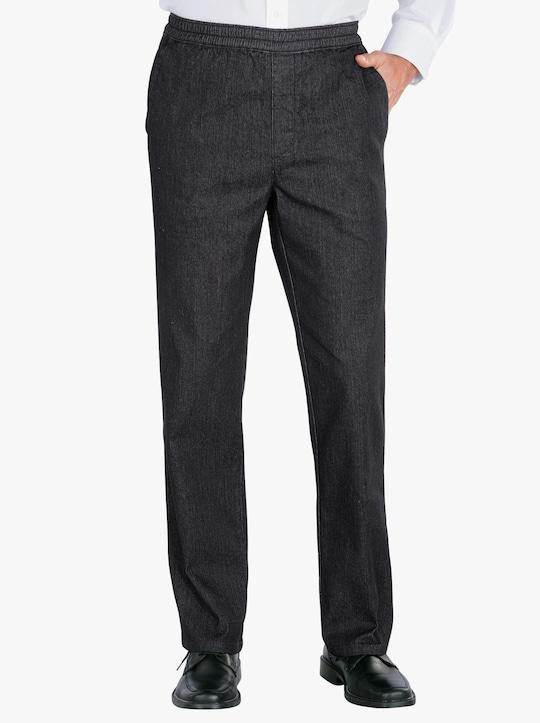 Pohodlné kalhoty - černá-denim