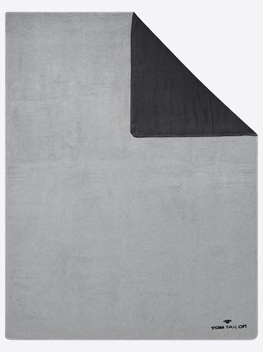 TOM TAILOR Wohndecke - schwarz-grau