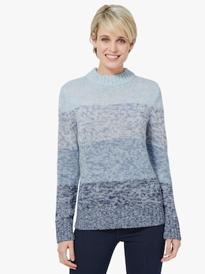 Pullover - blauw gemêleerd