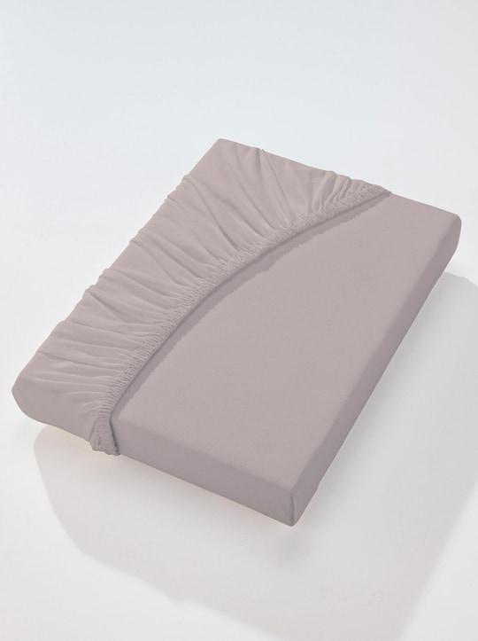wäschepur Spannbetttuch - stein