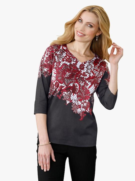 Shirt - rood gedessineerd