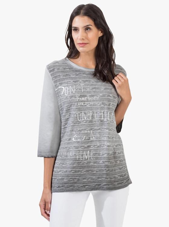 Jacquard-Shirt - steingrau