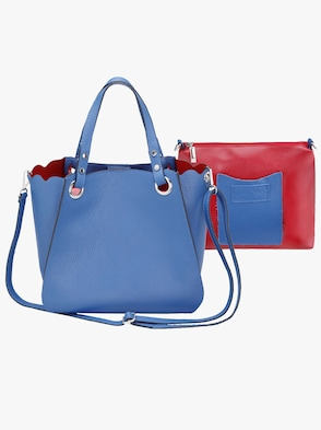 Taschen-Set, 2-tlg. - blau-rot