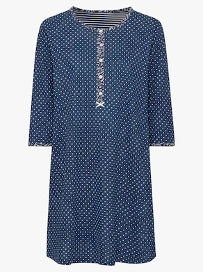 Marie Francoise Sleepshirt - marine-gepunktet