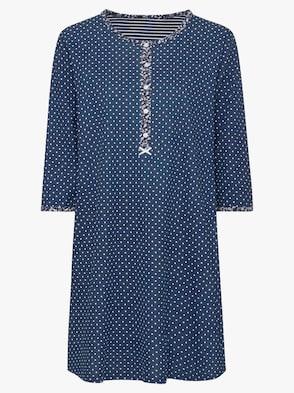 Sleepshirt - marine-gepunktet