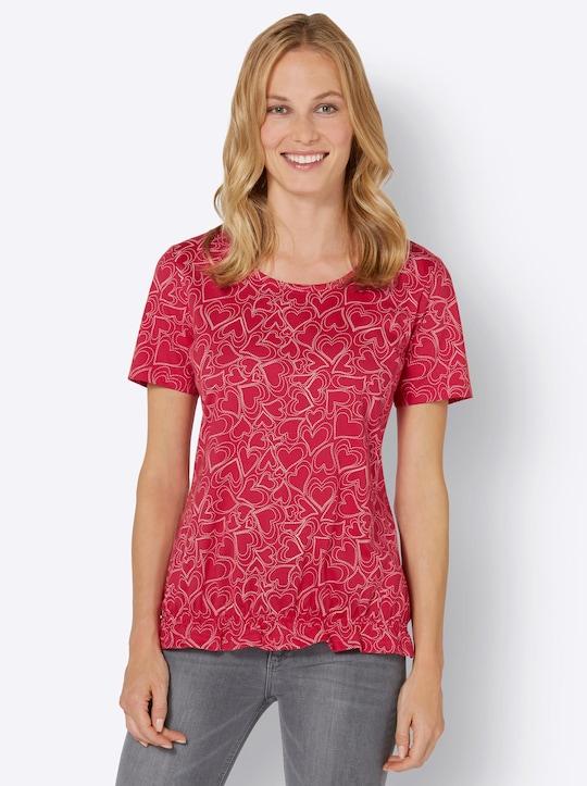 Druck-Shirt - erdbeere-ecru-bedruckt