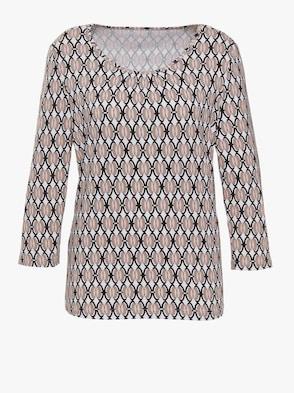 Shirt - ecru-sesam-bedruckt