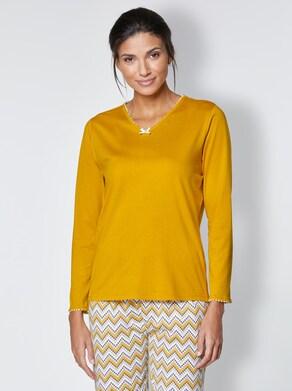 wäschepur Pyjama-Shirt - oker