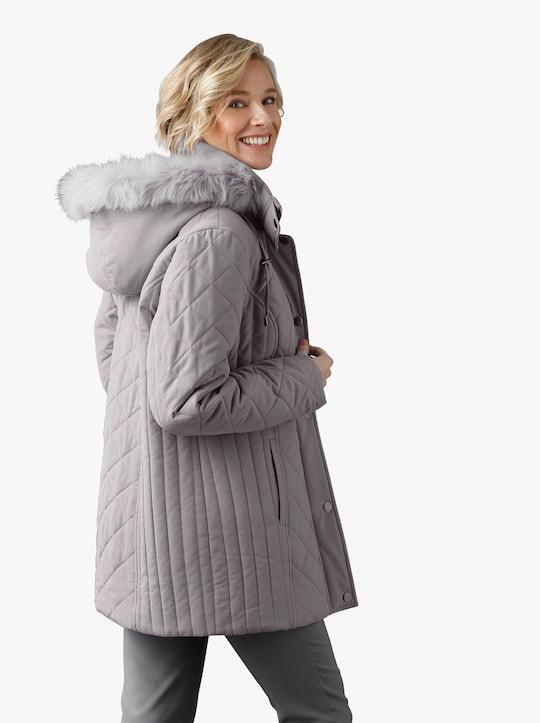 Prošívaná bunda - šedá
