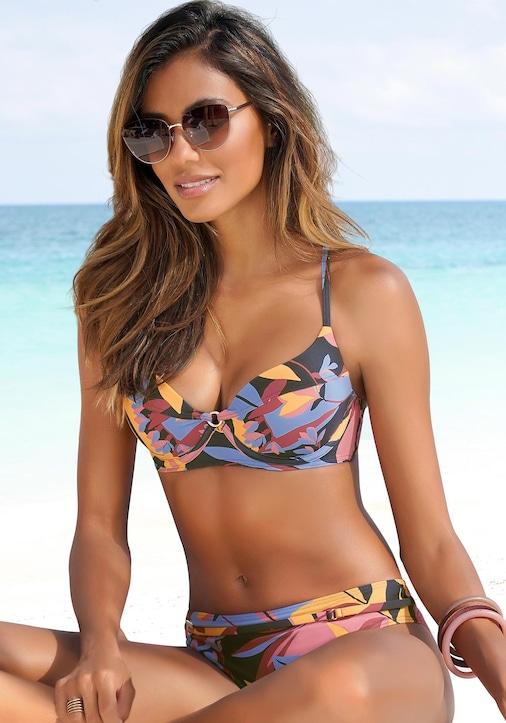 Sunseeker Bügel-Bikini - marine-rostrot