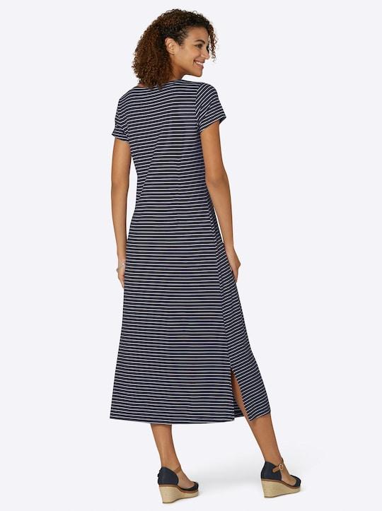 Collection L Jersey-Kleid in marine-weiß-gestreift   WITT ...
