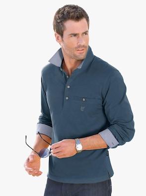 Tričko s dlouhým rukávem - džínová modrá