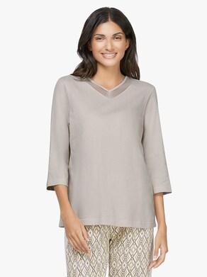 Pyjama-Shirt - lichtgrijs