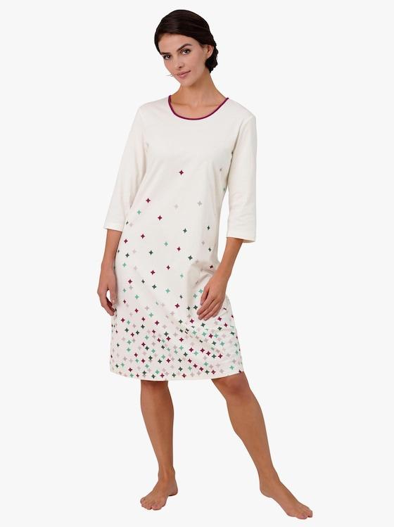 wäschepur Nachthemd - ecru-bedruckt