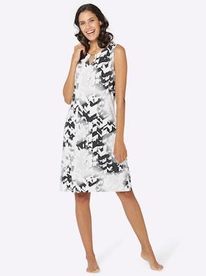 pastunette Sommerkleid - schwarz-weiß-gemustert