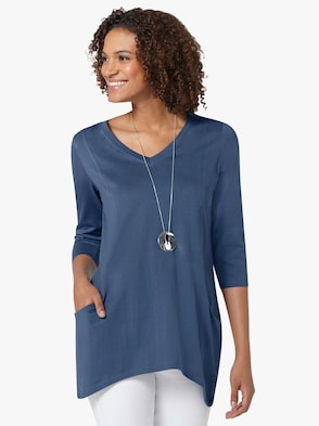 Tričko - džínsová modrá