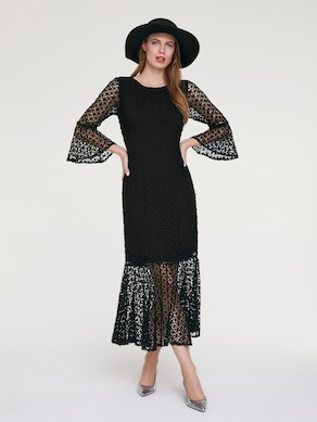 Ashley Brooke Spitzen-Kleid - schwarz