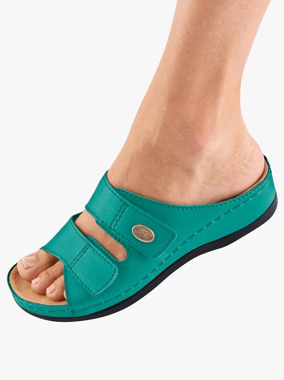 Franken Schuhe Pantolette - türkis