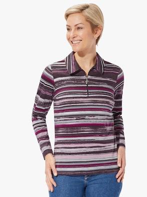 Tričko - lilková-proužek