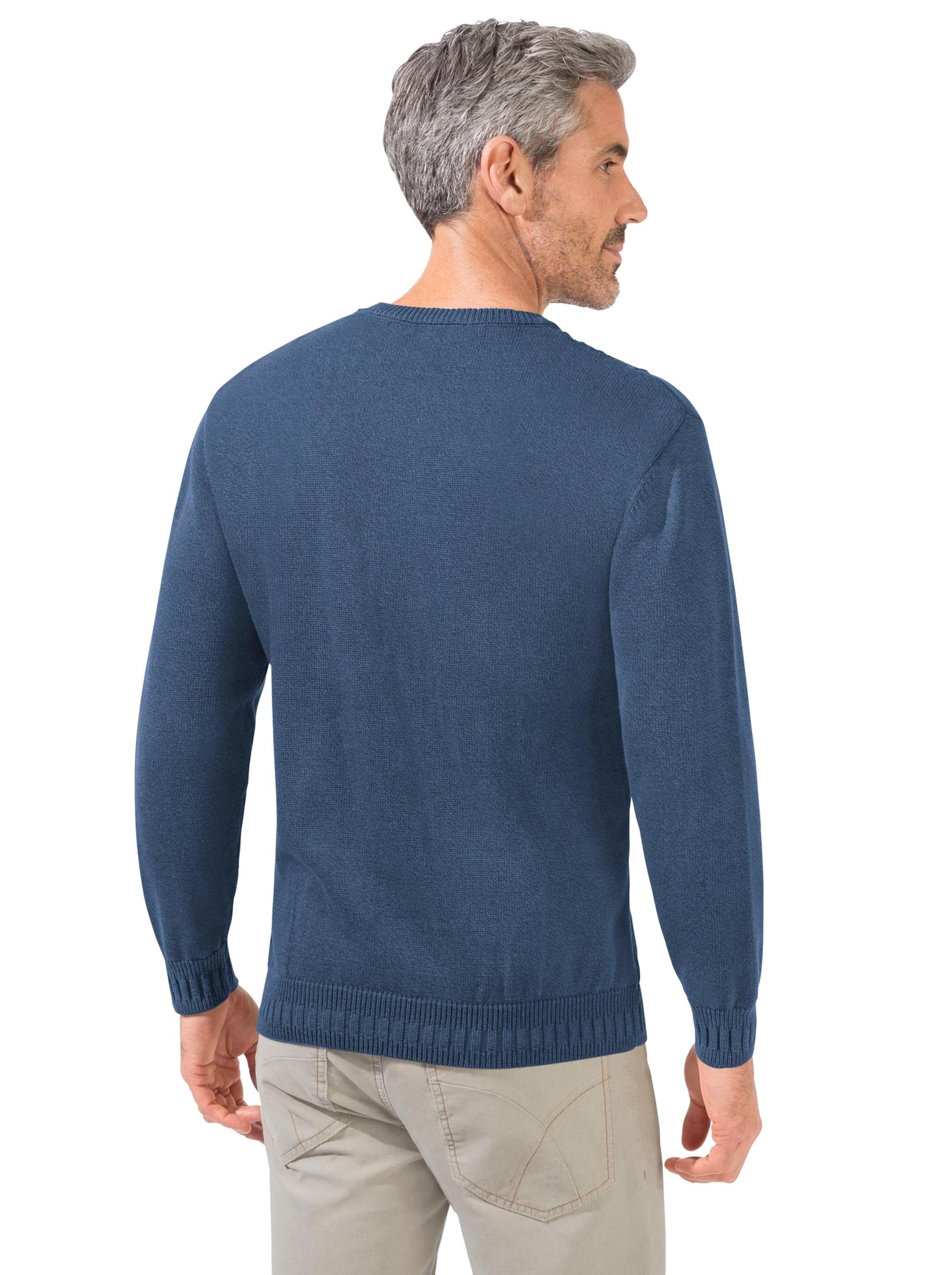 witt weiden - Herren Pullover blau-meliert