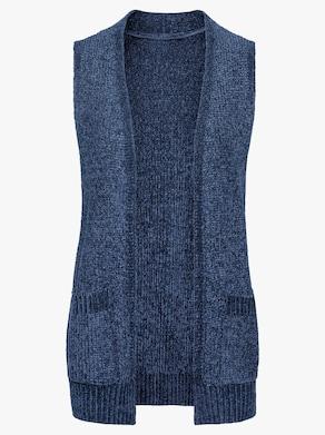 Strickweste - jeansblau