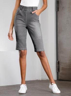 Jeans-Bermudas - grey-denim