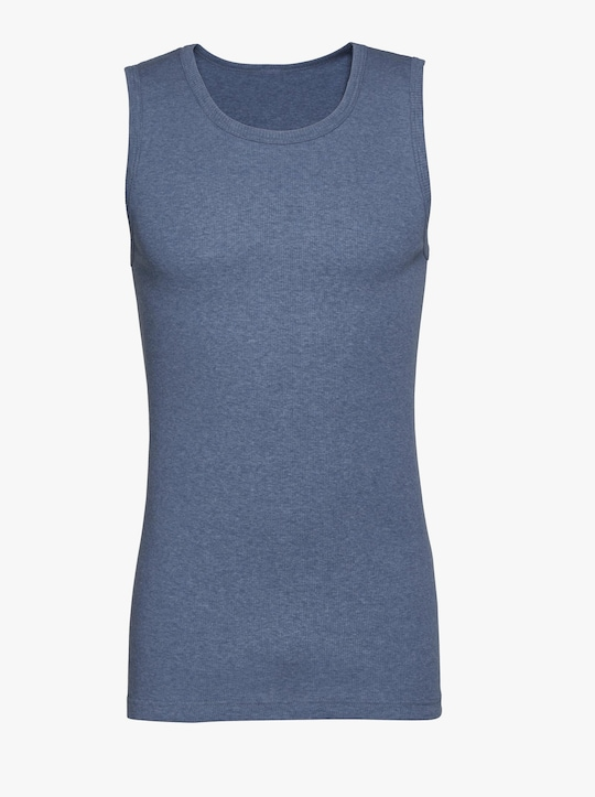 Kumpf Onderhemd - blauw gemêleerd