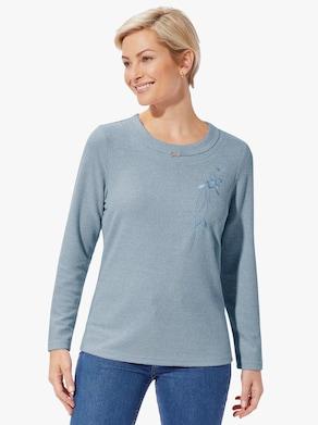 Sweatshirt - eisblau-meliert
