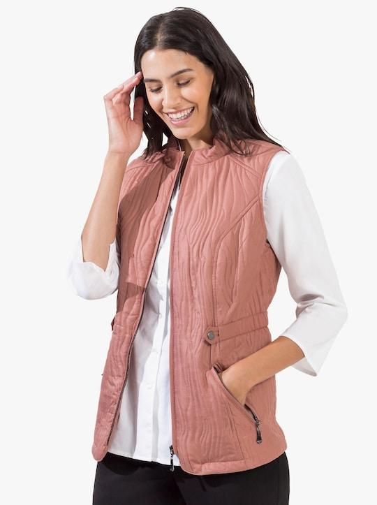 Prošívaná vesta - růžové dřevo