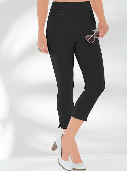 Hose wadenlang - schwarz