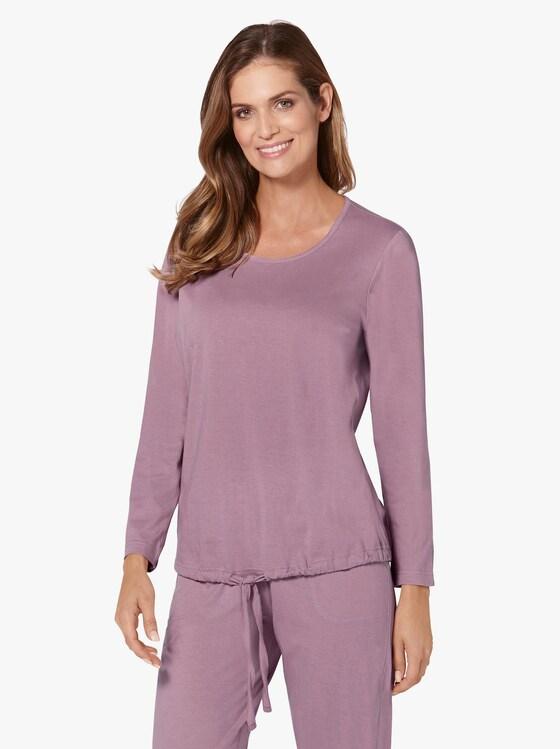 Schlafanzug-Shirts - rosé + blau