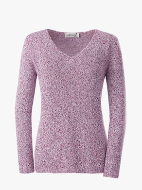 Collection L Pullover - fuchsia-meliert