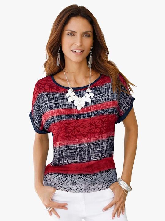 Tričko - červená-potisk