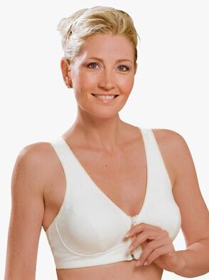 Wohlfühl-BH mit Reißverschluss - weiß