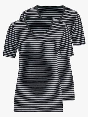 Speidel Shirt - schwarz-geringelt