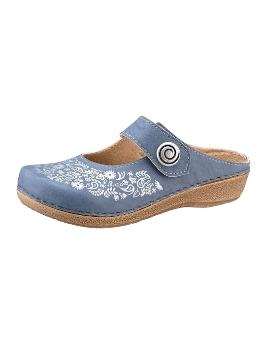 Franken Schuhe Clogs - jeansblau