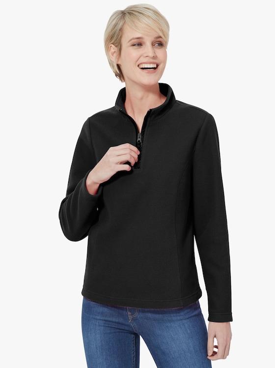 Fleecové tričko - černá