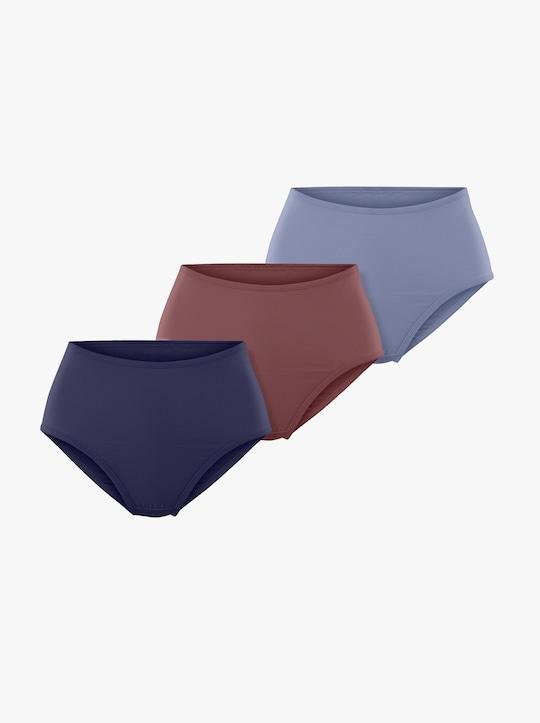 wäschepur Tailleslip - bleu + marine + bordeaux