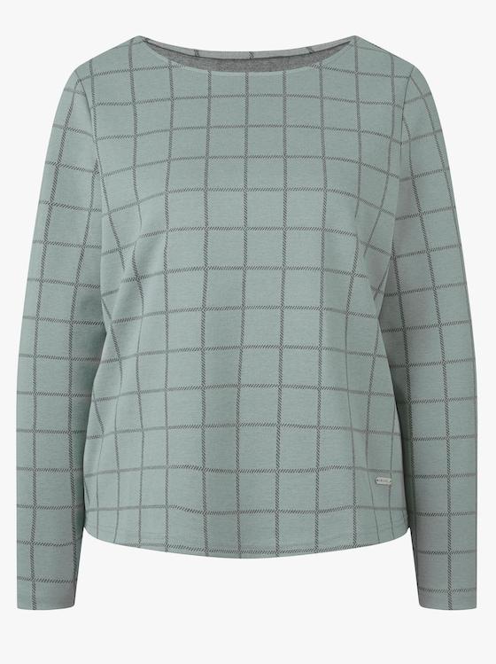 Collection L Shirt - mint-kariert
