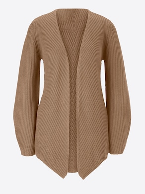 Strickjacke - cognac