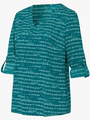 Bluse - seegrün-bedruckt