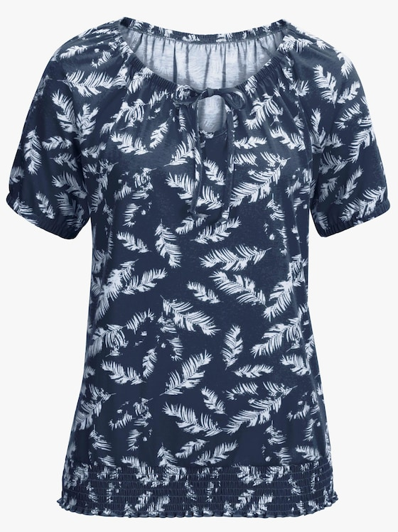 Shirt - marine gedessineerd