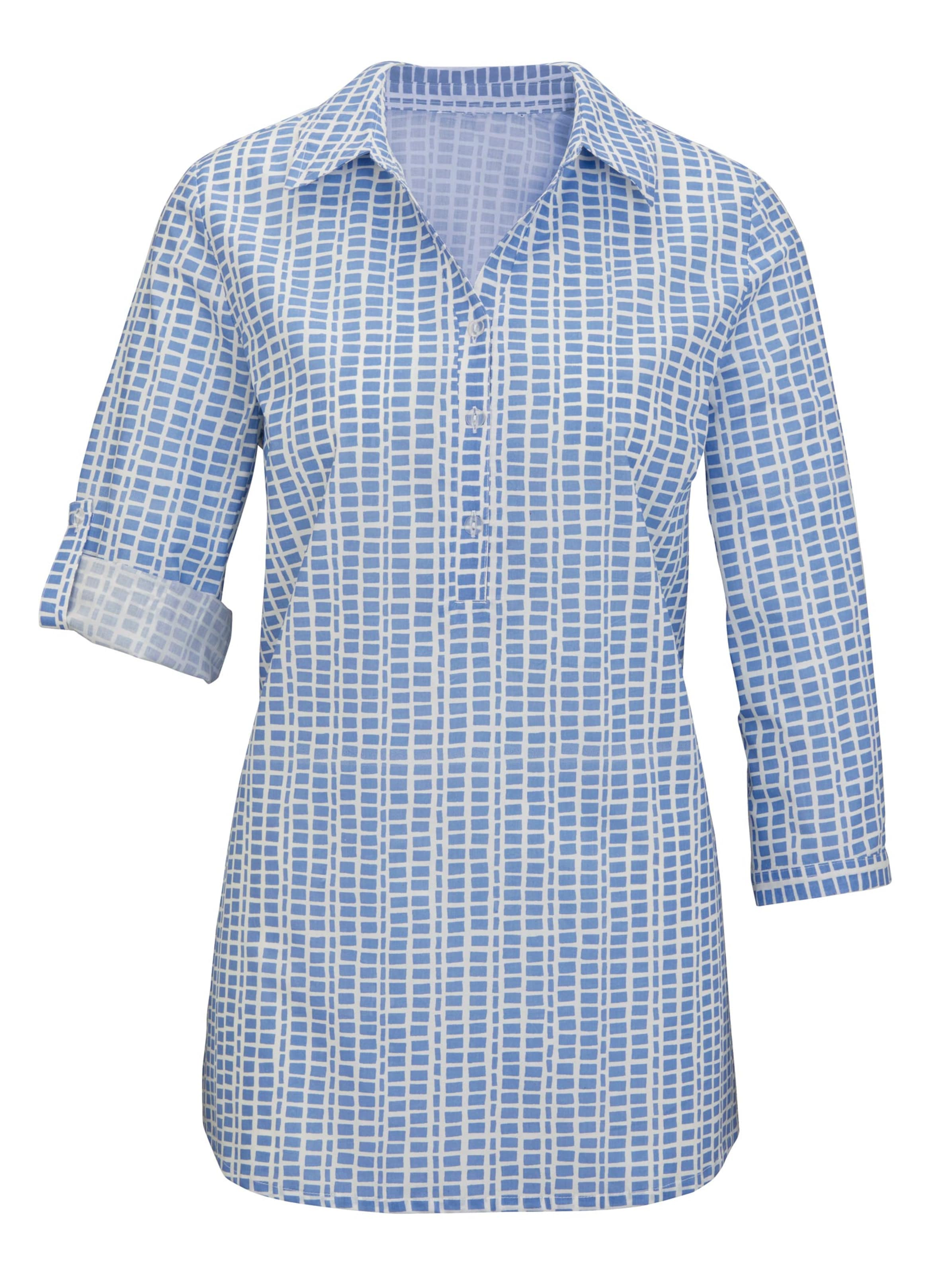 witt weiden -  Damen Bluse bleu-gemustert