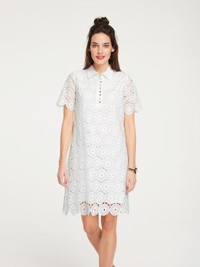 Linea Tesini Spitzen-Kleid - weiß