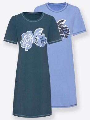 Nachthemden - blau + marine