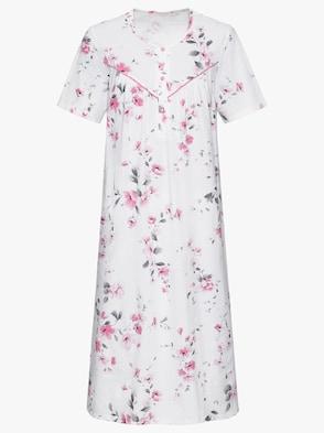 Nachthemd - weiß-rosé