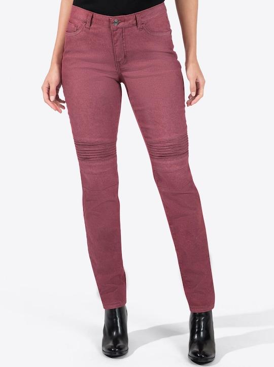 Jeans - dunkelrot