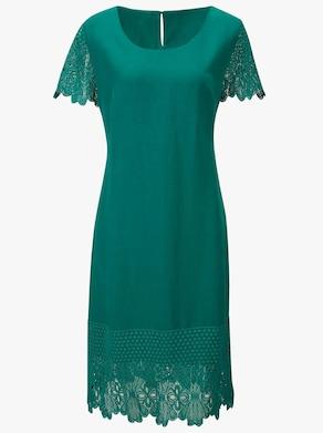Lyocell-Kleid - smaragdgrün