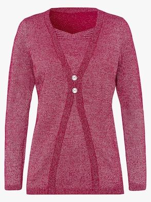 2-in-1-pullover - rood