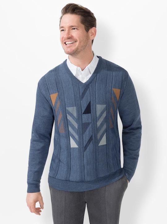 Marco Donati Strickpullover - jeansblau